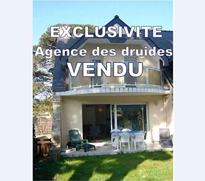 Achat vente maison 3 chambres, jardinet -  immobilier 56340 Carnac plage