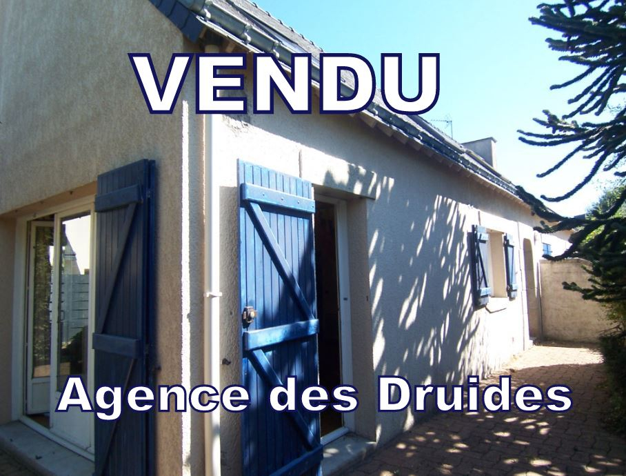 VENDU AGENCE DES DRUIDES CARNAC 1.5 KM VILLE  Maison 3 - 4 pièces AVEC JARDIN - 56340 .