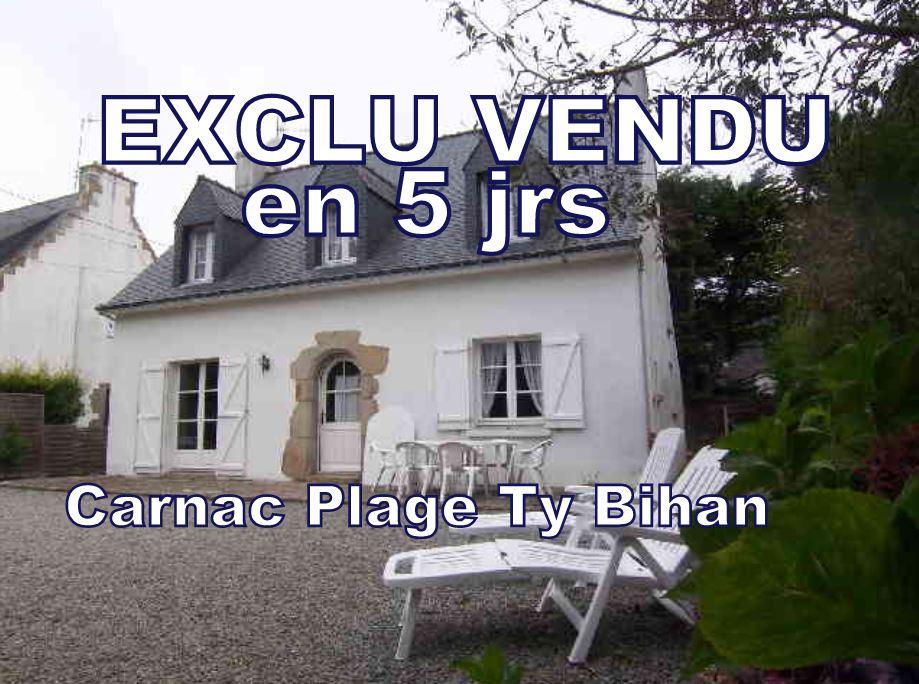VENDU - CARNAC Maison de charme A VENDRE   6 pièces 4 chambres  possibilité 5 - 120 m²