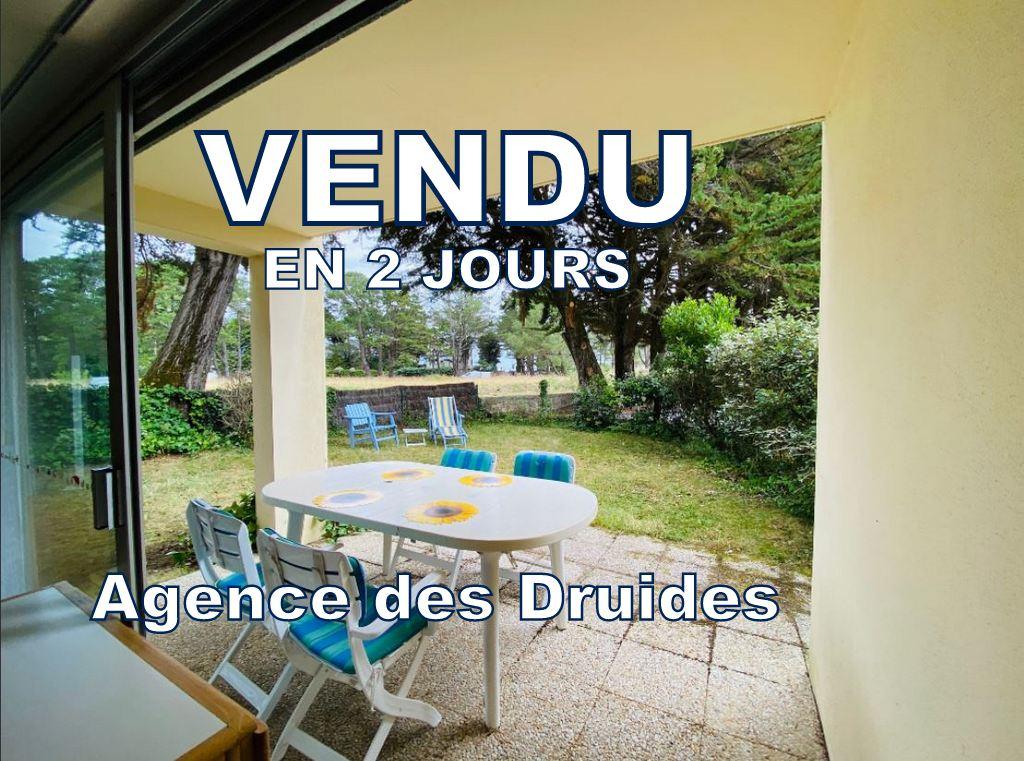 ACHAT VENTE - Appartement Carnac Grande plage - Beaumer  2 pièces 25.35 m2 en rez de jardin  56340