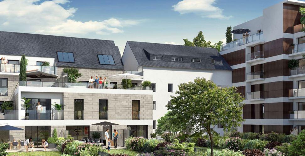 RENNES SAINTE THERESE - Appartement  T3 de 57.83 m² avec terrasse et jardin