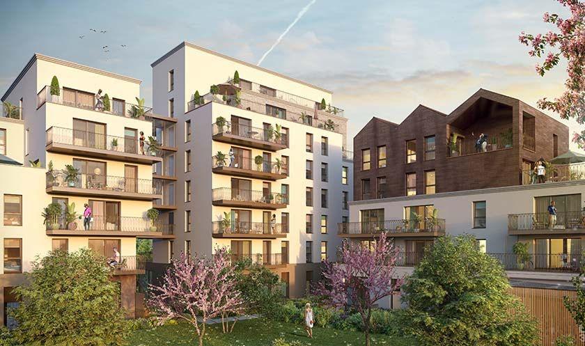RENNES Rue de Chateaugiron - T2 de 43.07 m² avec balcon et parking