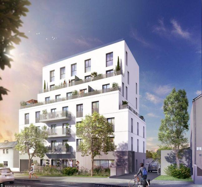RENNES Patton - T2 de 40.15 m² avec grande terrasse
