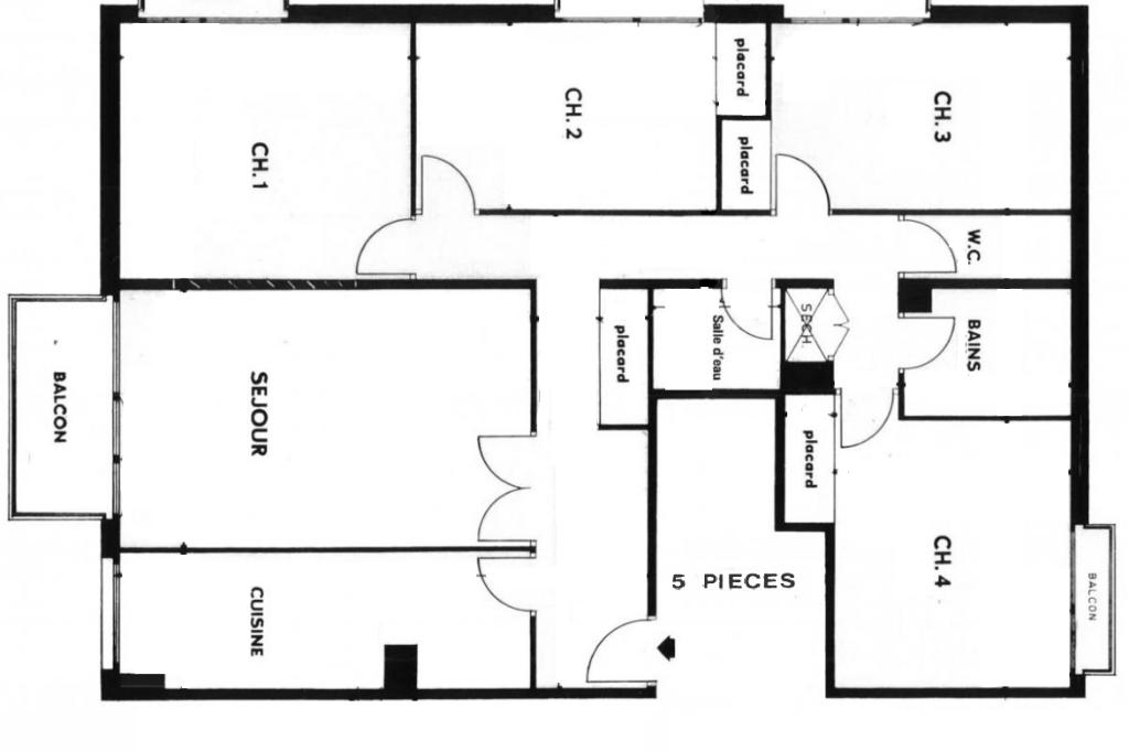 Vente Appartement de 5 pièces 98 m² - COURBEVOIE 92400 | BRACKE IMMOBILIER COURBEVOIE - AR photo2