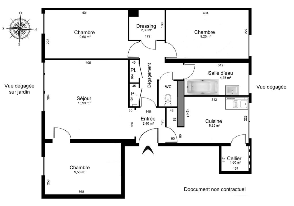 Sale apartment Crosne 129000€ - Picture 4