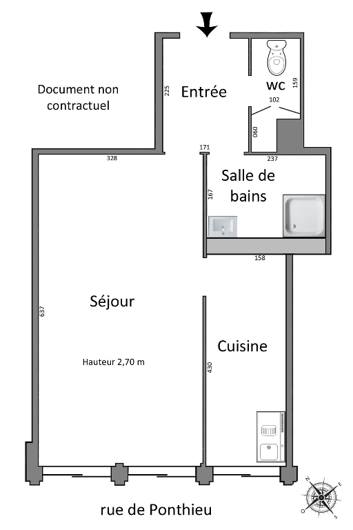 Location appartement Paris 8ème 1 200€ CC - Photo 3