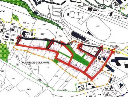 Terrain avec accord pour créer 7 lots à bâtir