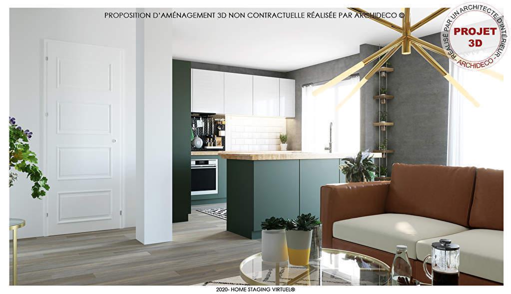 Beau 3 pièces d'une surface habitable de 90 m² avec Grande Véranda exposé SUD/OUEST et CAVE ...