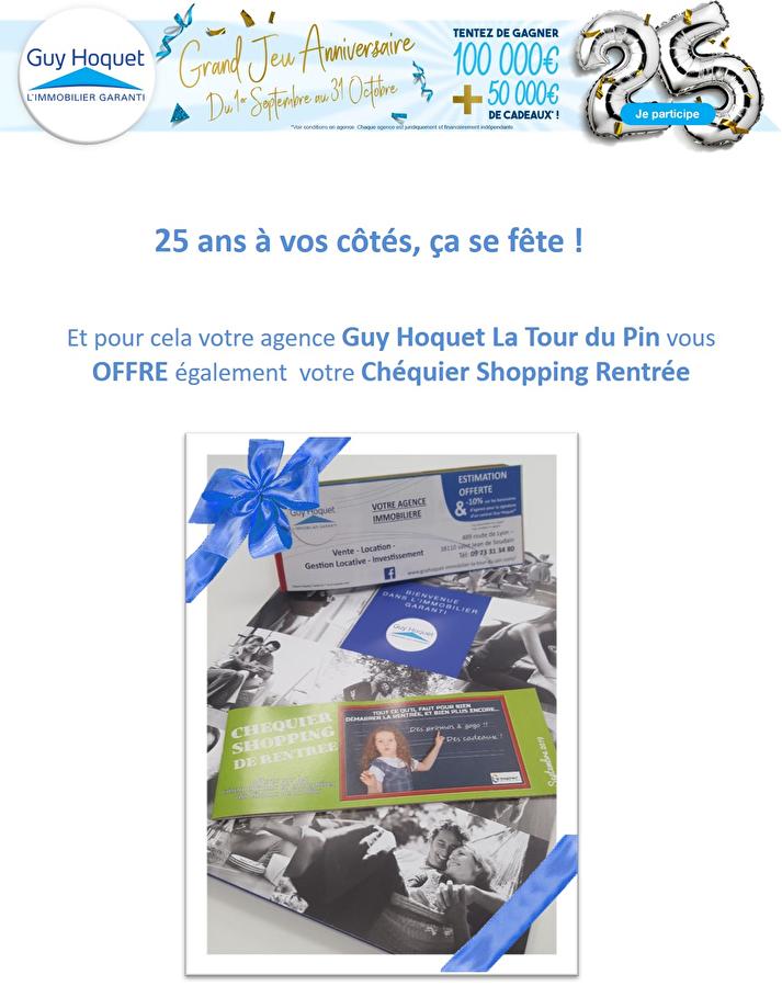 Guy Hoquet La Tour du Pin vous offre votre Chéquier Shopping Rentrée !