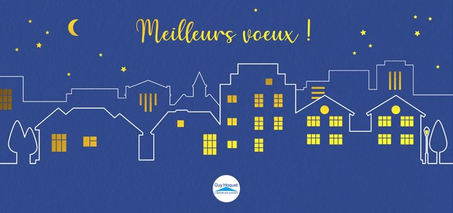 Votre agence Guy  Hoquet La Tour du Pin vous présente ses meilleurs vœux pour cette nouvelle année 2020.