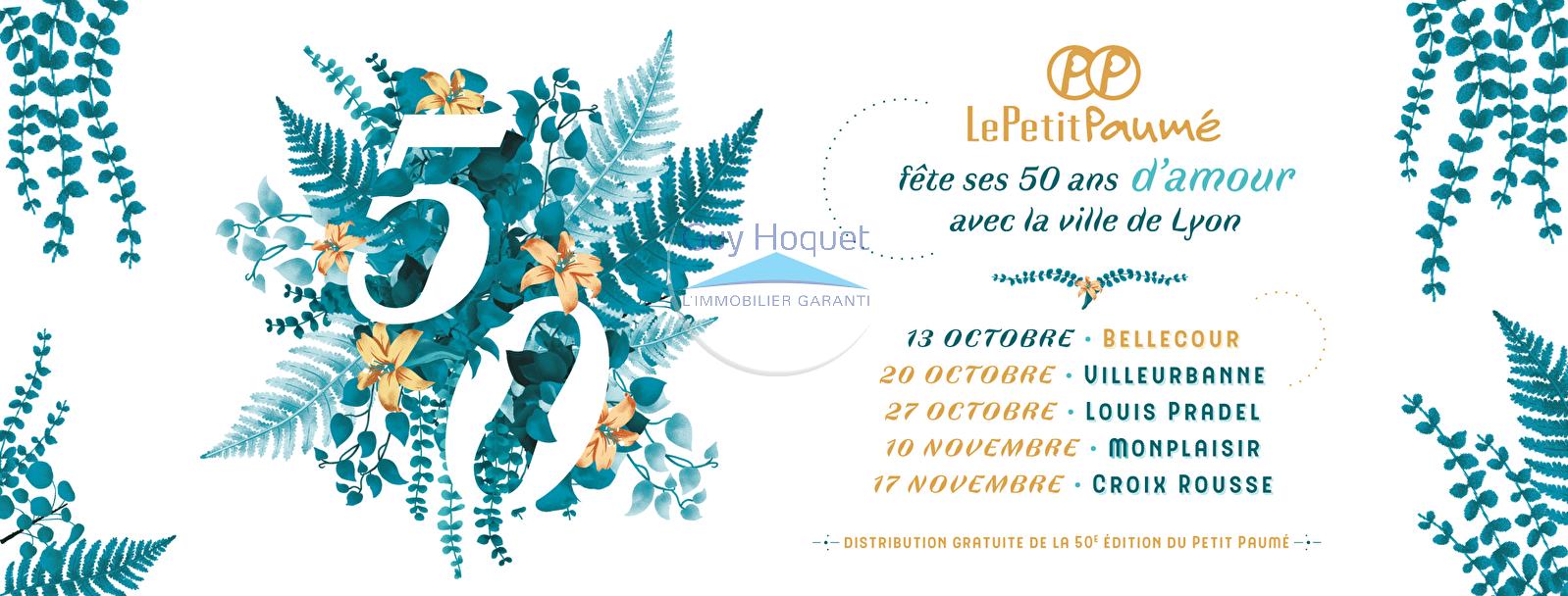 Guy Hoquet Lyon 2 partenaire du Petit Paumé - Les 50 ans !