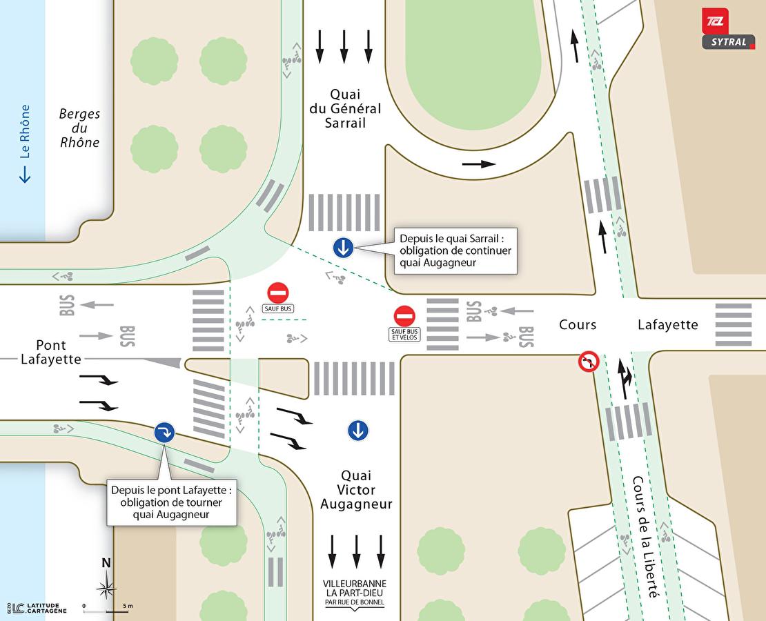 Un nouveau plan de circulation pour le carrefour Augagneur/Sarrail/Lafayette