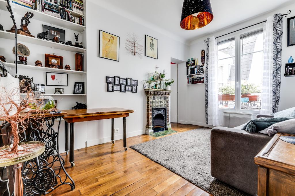 Vente Appartement de 2 pièces 35 m² - PARIS 75020 | 20ème APPART PYRÉNÉES - AR photo2
