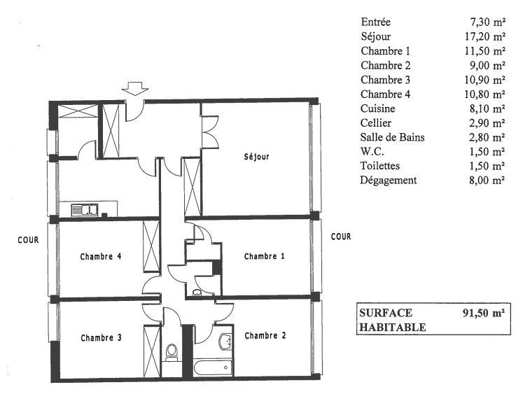 Vente Appartement de 5 pièces 92 m² - PARIS 75020 | 20ème APPART PYRÉNÉES - AR photo2