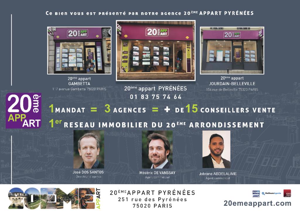 Vente Appartement de 5 pièces 115 m² - PARIS 75011   20ème APPART PYRÉNÉES - AR photo12