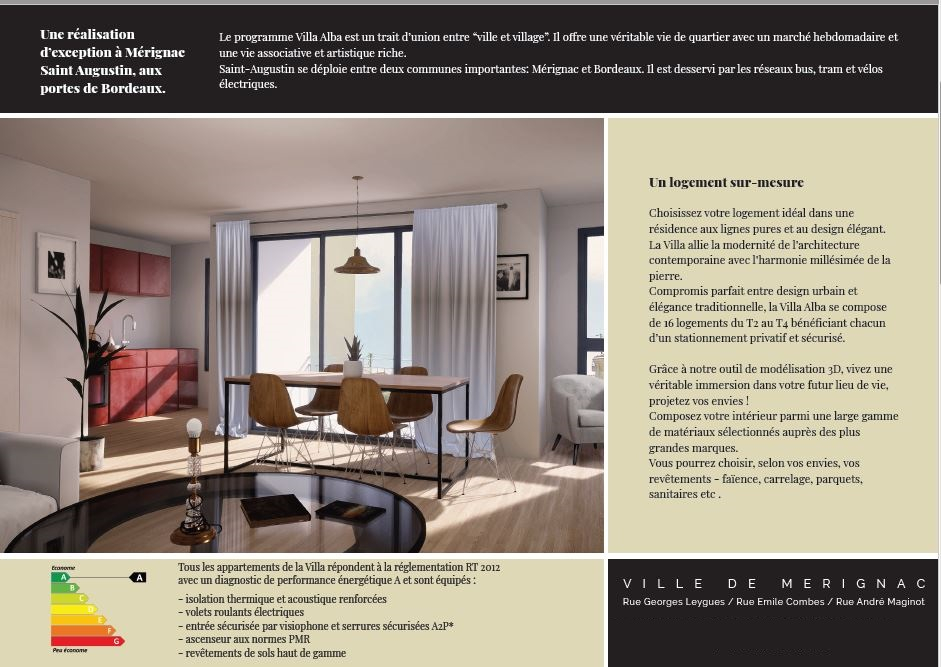 Rental apartment Merignac 737€ CC - Picture 2