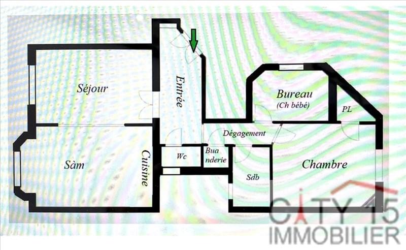 Venta  apartamento Paris 15ème 655000€ - Fotografía 4