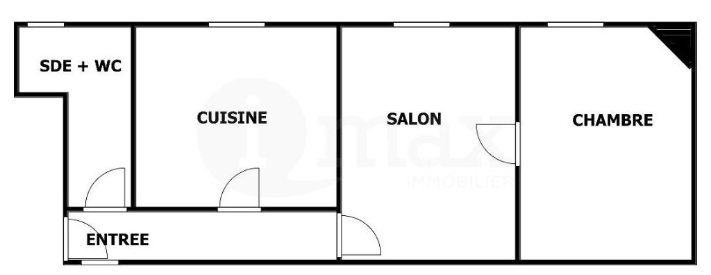 Appartement Asnieres Sur Seine 2 pièce(s)