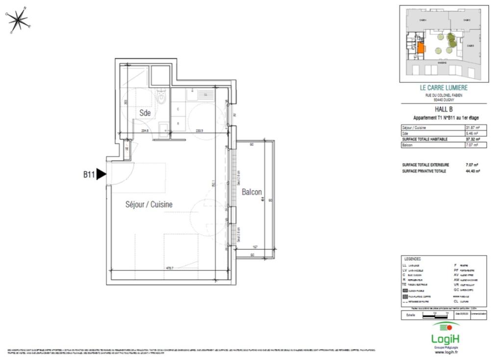 Sale apartment Dugny 145230€ - Picture 3