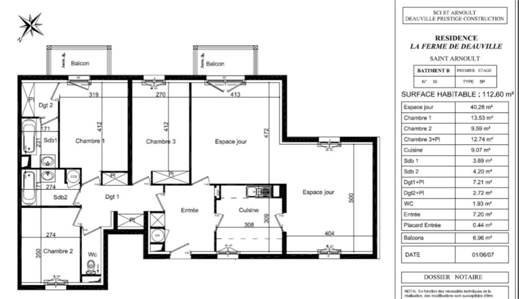 Vente appartement St arnoult 563400€ - Photo 1
