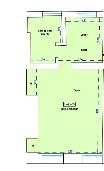 Appartement Rouen 1 pièce(s) 23.50 m2