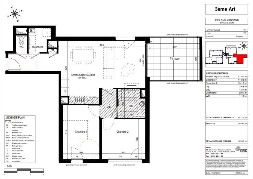 Vente appartement Lyon 3ème 434500€ - Photo 2