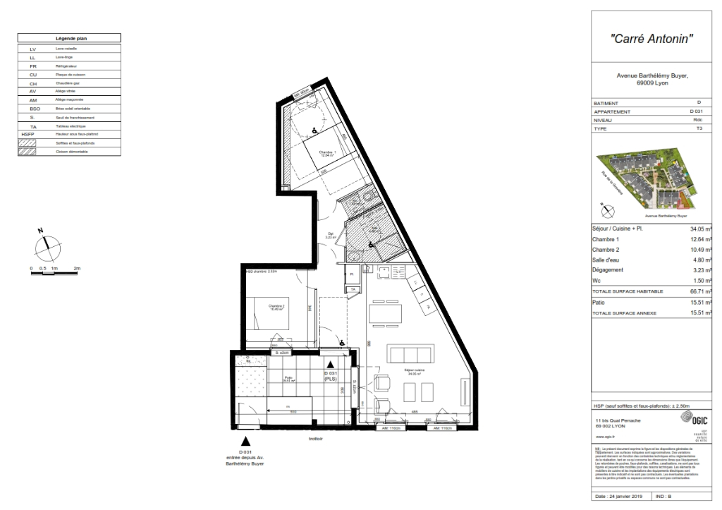 Sale apartment Lyon 9ème 376500€ - Picture 4
