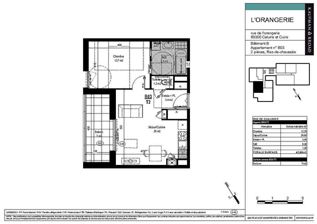 Vente appartement Caluire et cuire 308000€ - Photo 3