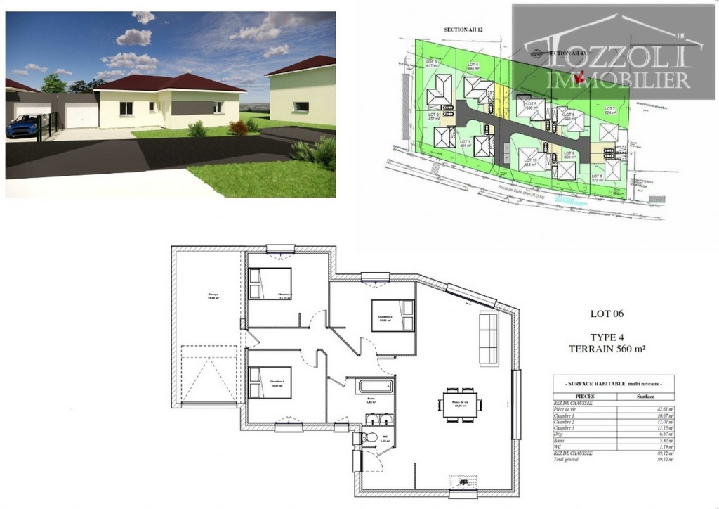Vente maison / villa Rochetoirin 261165,85€ - Photo 2