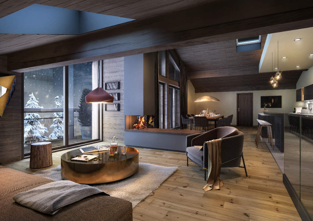 """Apartment """"Stallion Exclusive Lodge"""" - Megève - 5 rooms Accommodation in Megeve"""