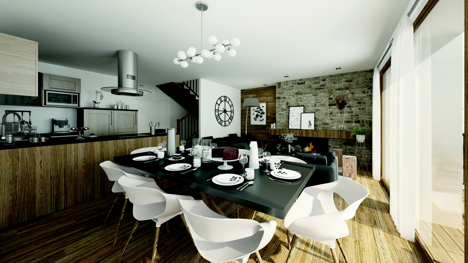 102 m² apartment - 4 bedrooms - in a new chalet Chalet in Courchevel