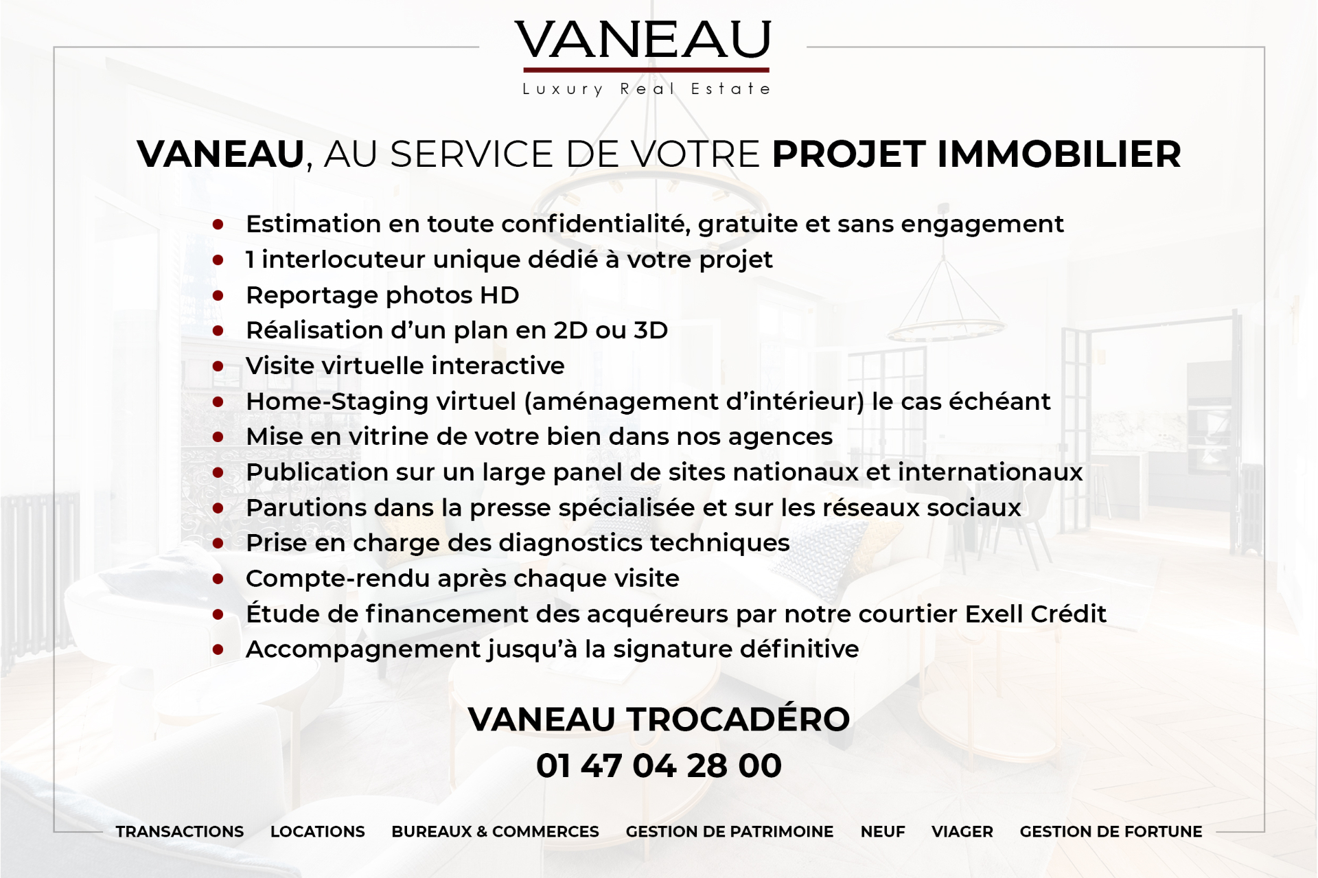 Immobilier Paris – France – Vaneau – 9