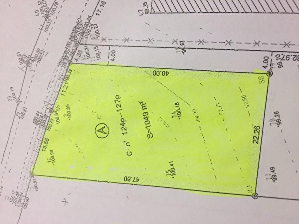 Terrain 1379 m² - MILLANCAY