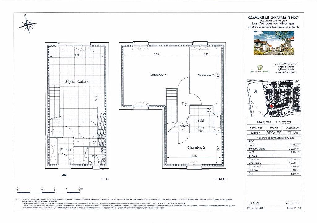 Maison 4 pièces 95 m² à CHARTRES