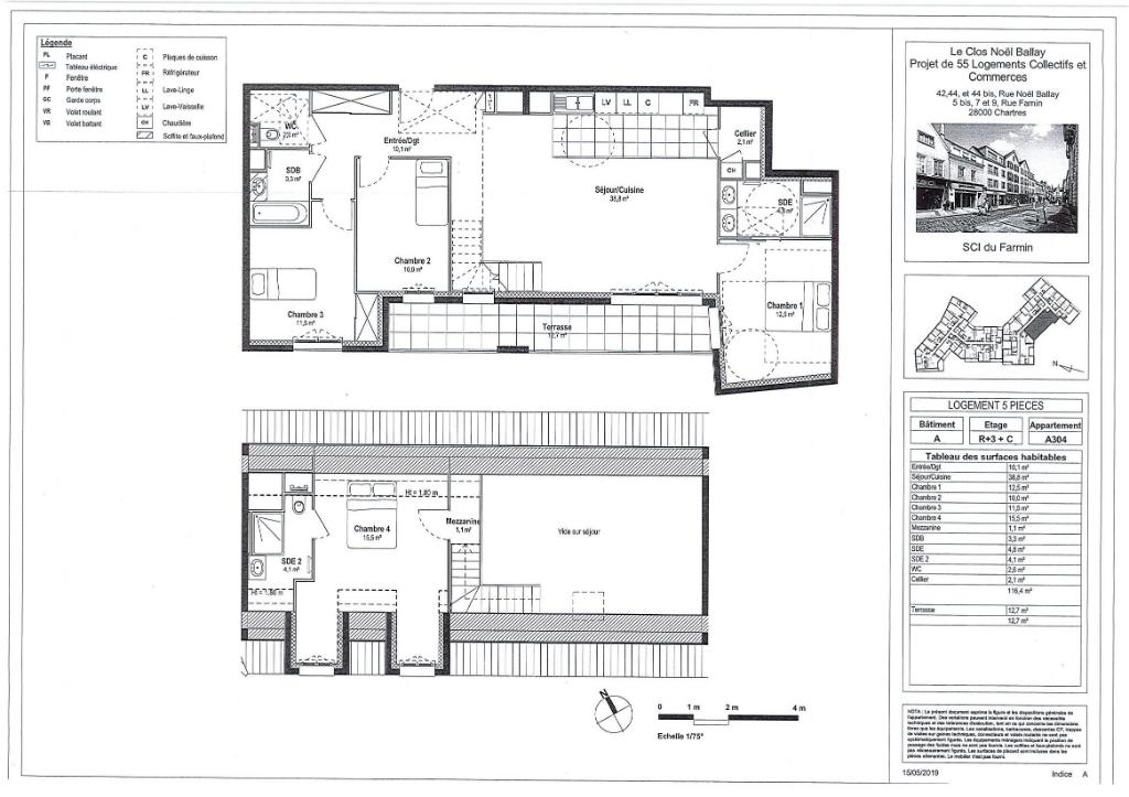 Appartement 5 pièces 116 m² à CHARTRES