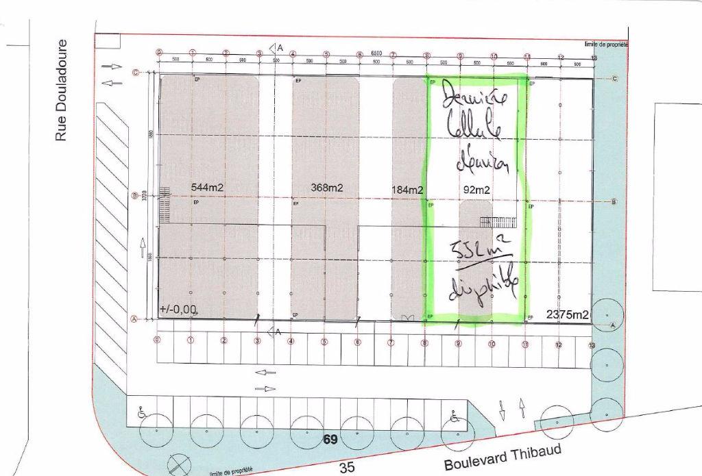 A LOUER Emplacement N°1 ZI THIBAUD Dernière Cellule 552 m² disponibles !!