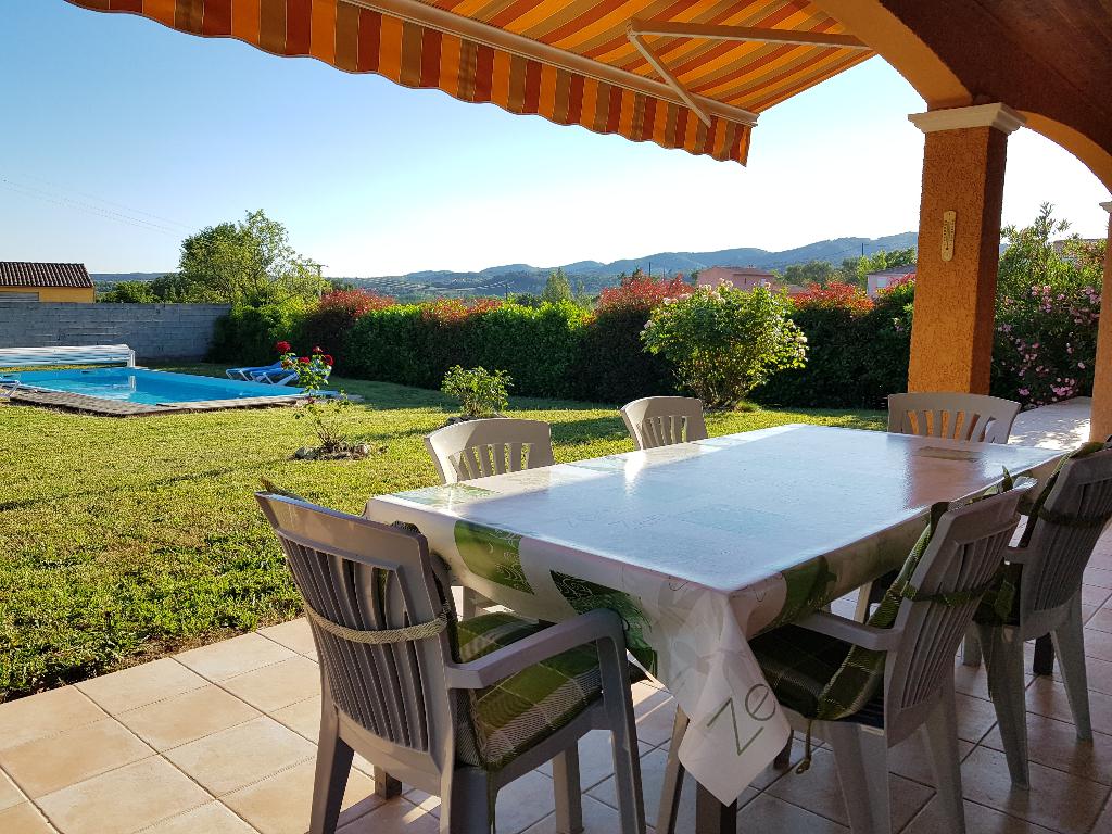 Villa de plain pied avec piscine all gre les fumades 30500 for Piscine 12 pieds