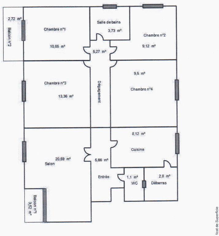 Vente Appartement 5 pièces CAHORS 46000