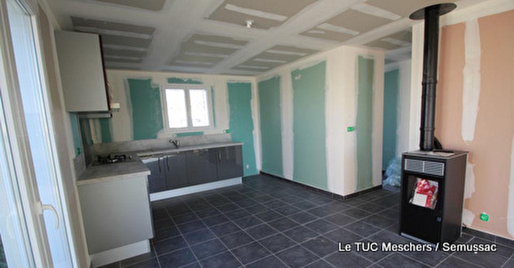 Semussac maison neuve 64 m env semussac 17120 for Prix maison neuve 2 chambres