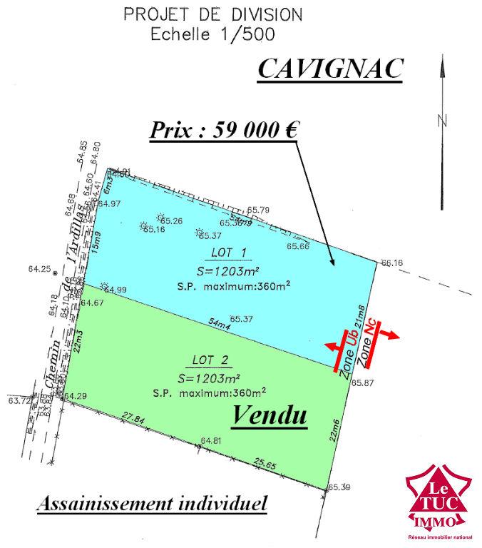Vente Terrain CAVIGNAC CAVIGNAC 33620
