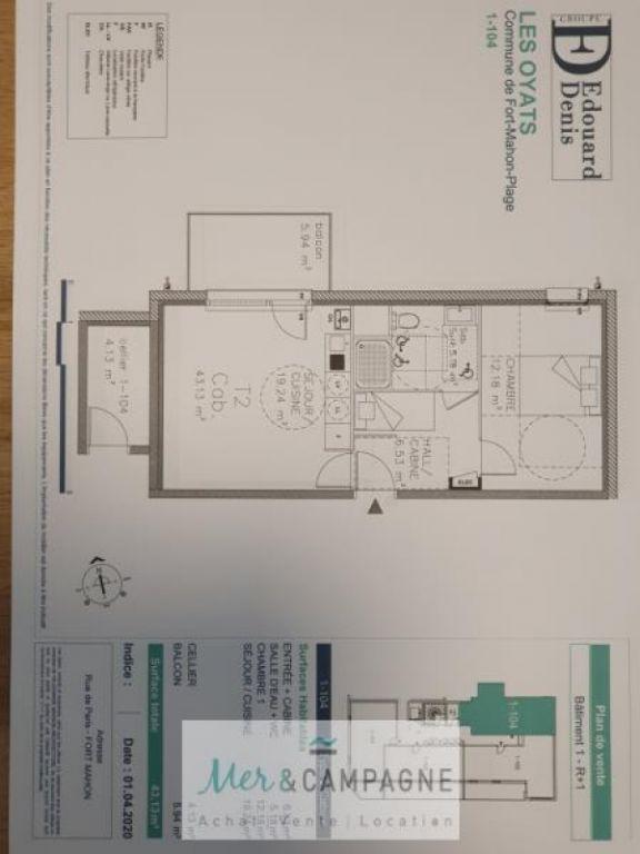 Sale apartment Fort mahon plage 174000€ - Picture 1