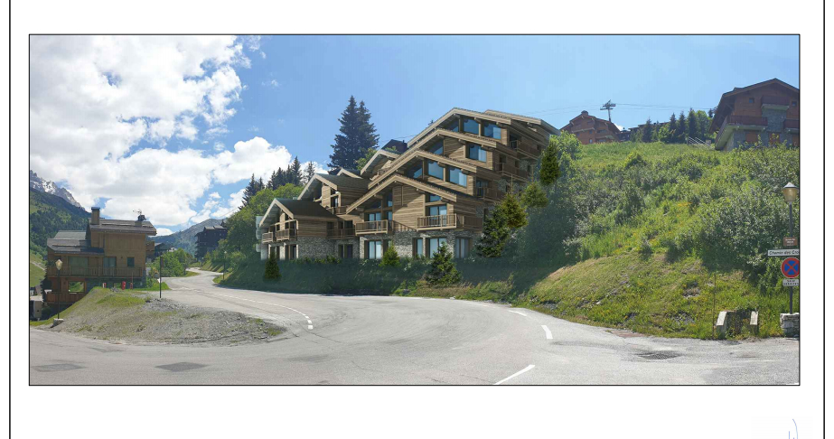 """Apartment """"LES CHALETS"""" - T3 Cabin - 76.50 m² Accommodation in Meribel"""