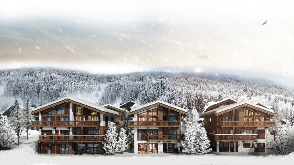 Ground floor three-bedroom apartment - Les Chalets Cinq Sommets Accommodation in Courchevel