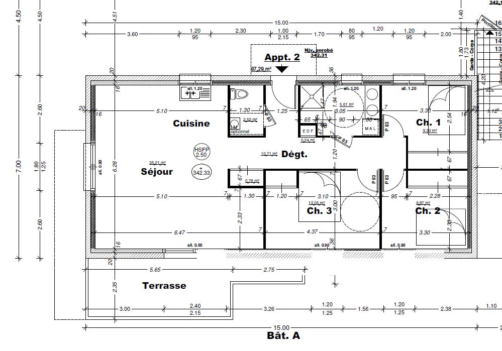Vente appartement Aix les bains 364000€ - Photo 1
