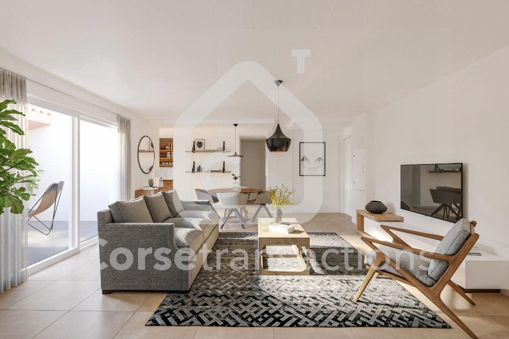Agence immobilière Ajaccio CORSE TRANSACTIONS  Appartement T3 rez de chaussée