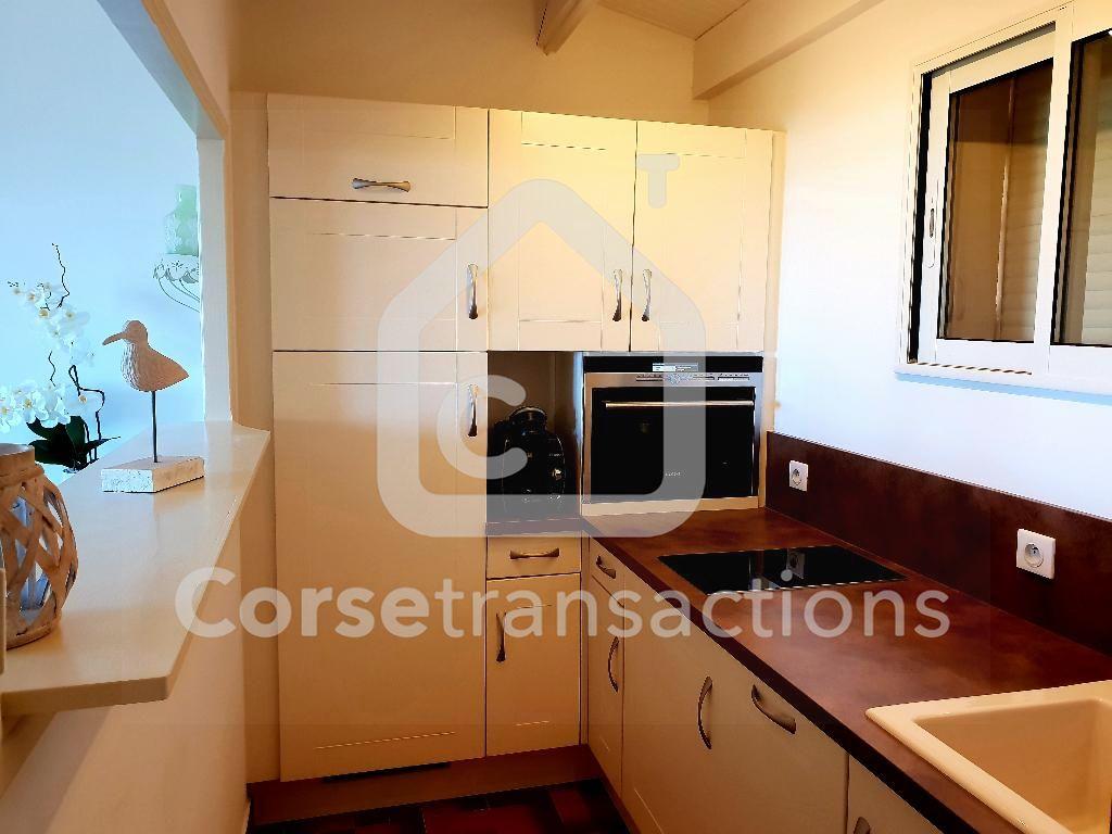 Agence immobilière Ajaccio CORSE TRANSACTIONS  Appartement Porticcio T3  vue mer