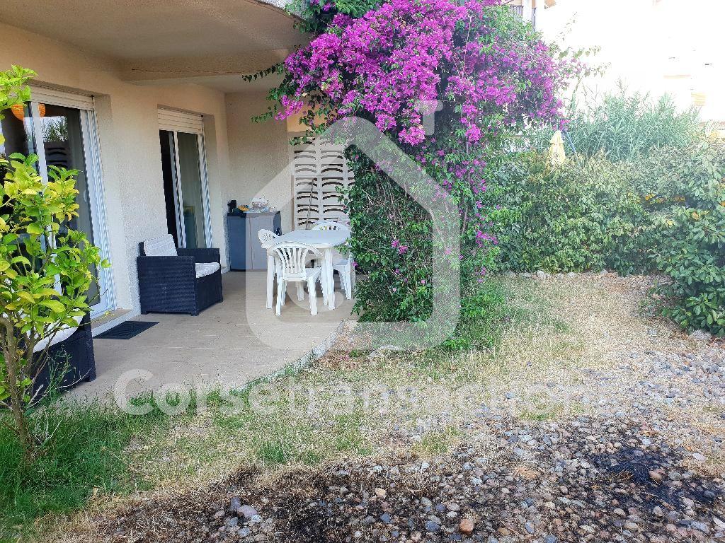 Agence immobilière Ajaccio CORSE TRANSACTIONS  T2 48 m2 en rez de jardin Ajaccio
