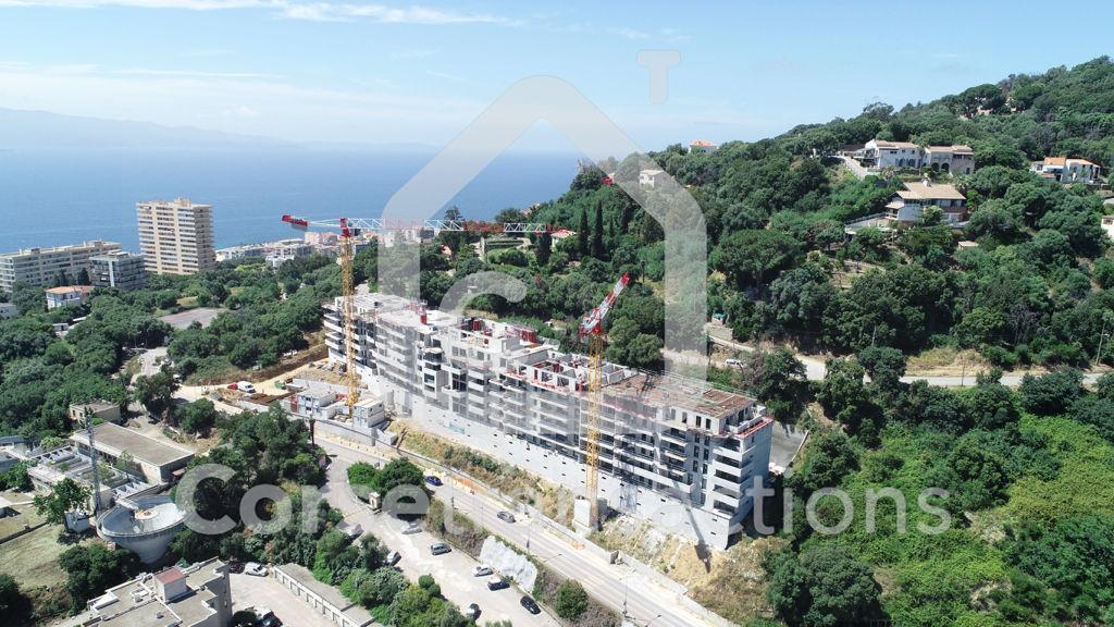 Agence immobilière Ajaccio CORSE TRANSACTIONS  Appartement T4 Ajaccio vue mer