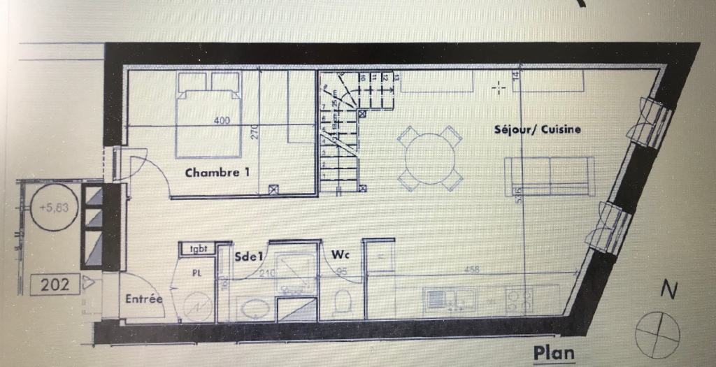 Venta  apartamento Dax 205200€ - Fotografía 4