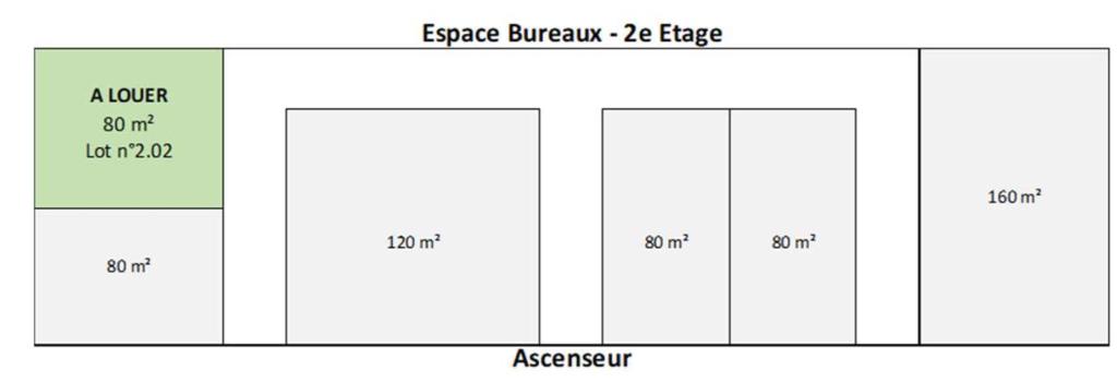 Location bureau Baie mahault 1500€ HC - Photo 2